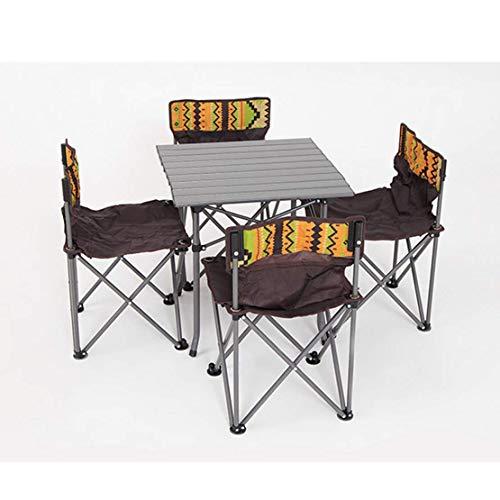 HYFTA1 Tragbarer Picknicktisch Hocker Set faltbar tragbar Outdoor Hocker Brücke Tisch Garten Grill Garten Party Camping -
