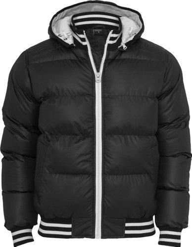 Shiny 2-tone Hooded College Bubble Jacket Farbe black Größe L (Herren Jacket Bubble Hooded)