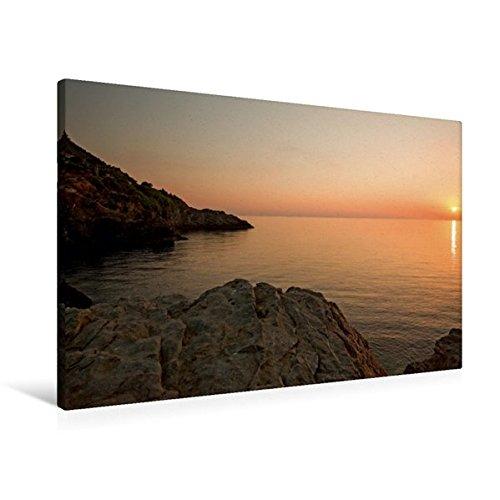 Premium Textil-Leinwand 90 cm x 60 cm quer, Sonnenuntergang Banyalbufar | Wandbild, Bild auf Keilrahmen, Fertigbild auf echter Leinwand, Leinwanddruck: Mallorca (CALVENDO Orte)