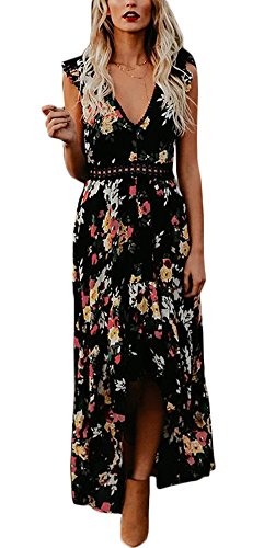 Ufatansy Damen Sommerkleider Spitze Kleid Strandkleid Swing Boho Kleid Abendkleider