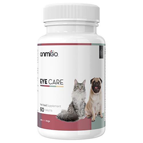 Eye Care - Augenpflege für Hunde und Katzen, Vitamin Augenpflege Tabletten Hund, Augenpflege Komplex Katze, Nahrungsergänzung, Vitamine und Mineralstoffe, Multivitamin Augen hochdosiert - 60 Kapseln