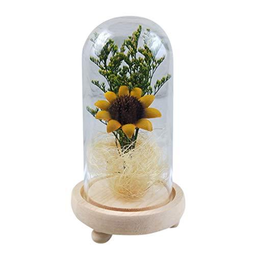 Jamicy LED Dekoration für Weihnachten, künstliche Blumen, romantische -