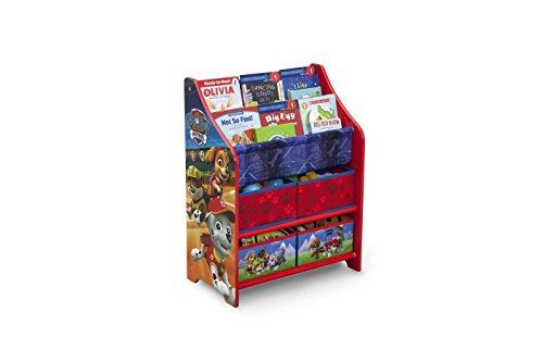 DELTA CHILDREN Meuble de Rangement Jouets et Livres Pat'Patrouille, Bois, Rouge, 50,49x26,49x67,99 cm