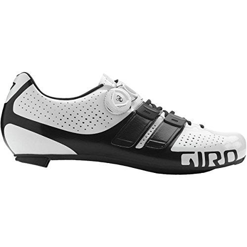 Giro Factor Techlace Road, Zapatos de Ciclismo de Carretera para Hombre, (White/Black 000), 41 EU