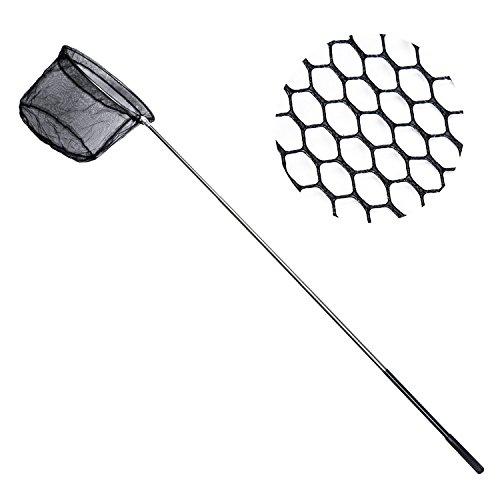Angeln Kescher Edelstahl faltbar Fische Karpfen Kescher mit der Erweiterung rutschfester Pole Griff (Salzwasser-teleskop-stange)