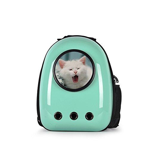 COSTWAY Haustier Rucksack Raumkapsel Hunde-Rucksack Transport-Rucksack Hunde-Tasche Tragbar (Hell Grün)