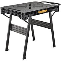 Stanley FatMax klappbare Werkbank / Express Werkbank (bis 455kg belastbar, mit Metallbeinen für höchste Stabilität, große Arbeitsfläche, mit praktischem Tragegriff, für schnellen Aufbau) FMST1-75672