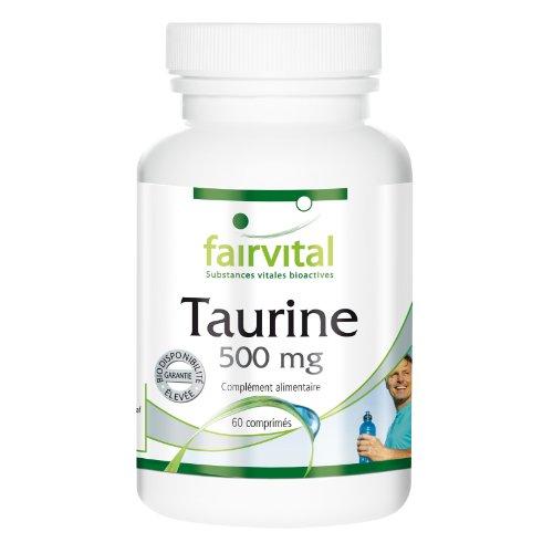 Taurine 500mg - 60 comprimés végétariens
