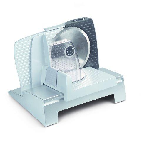 Domo do1950s electric 100w affettatrice in alluminio, bianco