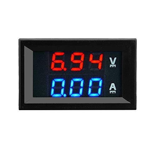 Dual-digital-messgeräte (HoganeyVan Voltmeter 100V 10A DC Digital Voltmeter Amperemeter Blau + Rot Zweifarbige LED-Anzeige Amp Dual Digital Voltmeter Messgerät 2 in1 Multimeter)