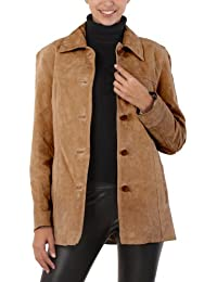 "BGSD Women's ""Anna"" Suede Leather Car Coat"