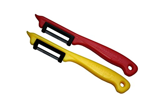 Schwertkrone Sparschäler Kartoffelschäler, 2er Set - Rechts und Linkshänder, bunt gemischt, Solingen Germany - Zufällige Farbe