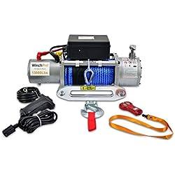 Verricello/Argano/Paranco elettrico 12V 13000 lbs (5909 kg),con telecomando Senza Fili