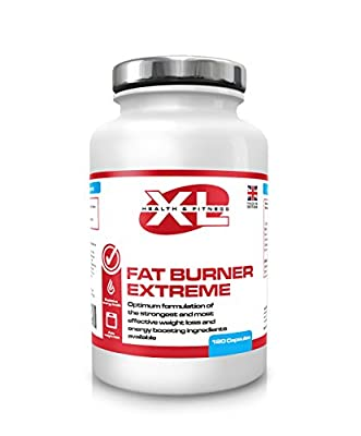 Fat Burner Extreme 120 Capsules By XL Health And Fitness Maximum Strength Weight Loss Aid Diet Pills For Men & Women (Work Faster Than Raspberry Ketones Colon Cleanse T5 T6 Green Tea / Coffee Acai Berry) Metabolism Booster Slimming Tablets Manufactured By