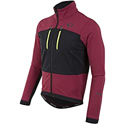 Pearl Izumi Elite Escape Chaqueta Softshell, Hombre, Rojo (Tibetan Red/Black), Medium