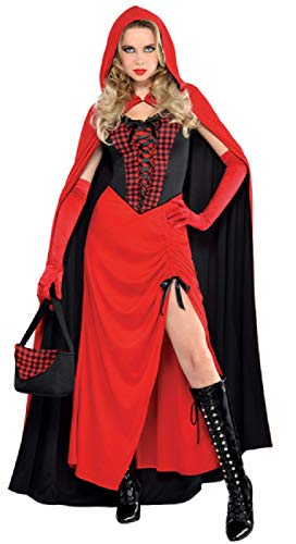 exy Red Hooded Enchantress TV Book Film World Book Day Halloween Fancy Dress Costume Outfit UK 8-16 (UK 14-16) ()