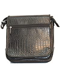 ALB Genuine Leather Sling Bag-Black