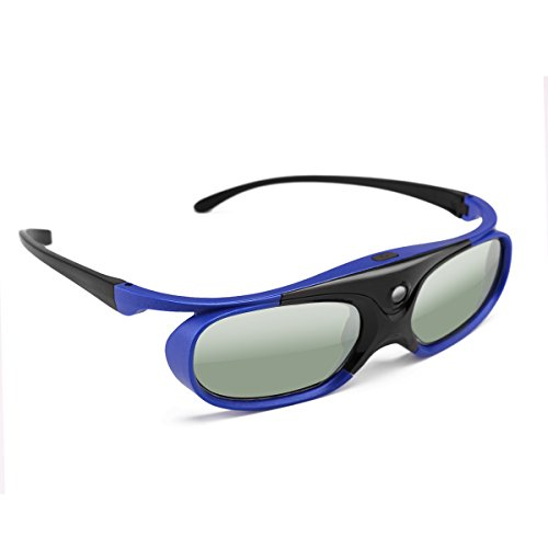3D-Brille, Universal DLP Active Shutter 3D-Brille 96-144Hz für Acer Viewsonic XGIMI-Projektor Optoma BenQ 3DTV, Batterie 3,7 V 80mAH - Universal-projektor-3d-brille