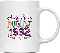 WTOMUG You will always be my best August 1992 27th Birthday Gift Flower Mug 27 Years Old