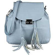 b708464766e3e9 OBC Made IN Italy 2in1 Damen Echt Leder Tasche Rucksack Damentasche  Handtasche Schultertasche Umhängetasche Ledertasche Lederrucksack