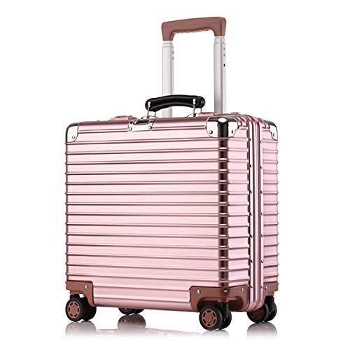 4-Rad-Laptop-Tasche Aluminium-Magnesium-Alloy-Trolley Executive-Geschäftstasche Mobiler Büro-Koffer 22 Zoll -