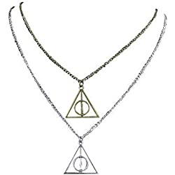Collar de Plata y Bronce Triángulo de las Reliquias de la Muerte