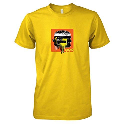 Krysom - 99c Burger - Herren T-Shirt, Größe XXL, gelb