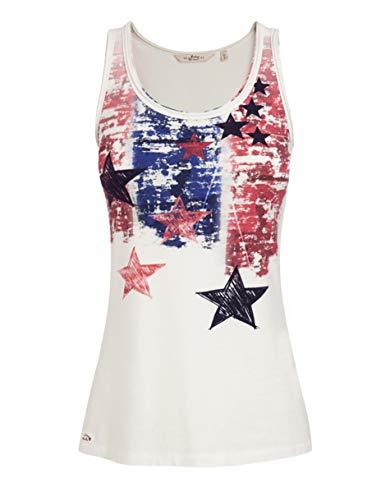 Jockey Damen Tanktop Modal Top Unifarben mit Motiv, Größe: XS, Farbe: Weiß -