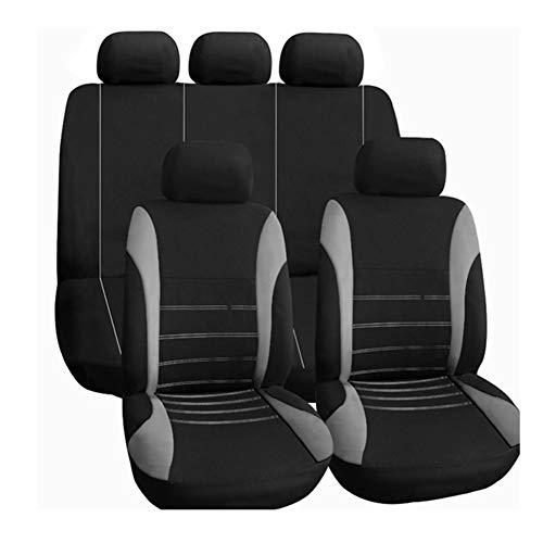Autositzbezüge Komplettsatz in Grau und Schwarz Autoinnenausstattung Airbag Kompatibel zu Fahrzeugen PKW Lkw & SUVs (Sitzbezug Für Mazda Suv)