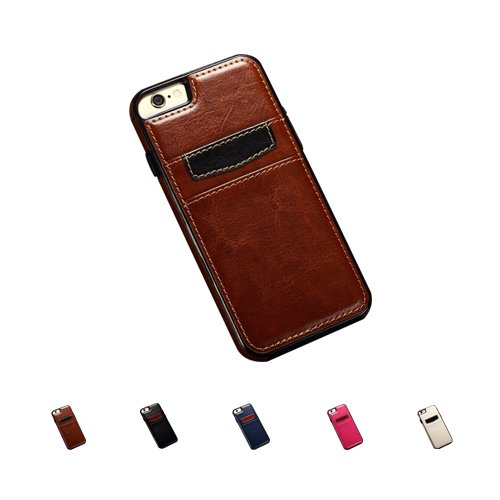 F8Q Luxury TPU Leather Ultra Slim Wallet Card Case Cover pour Apple iPhone 6S blanc