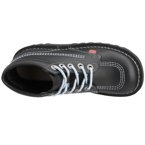 Kickers Kick Hi Core, Stivali da Donna Nero (Black/Sky/Black)