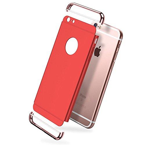 WYBAN Placcatura PC Opaco Ultrasottile Antiscivolo Protettiva Rigida Cassa Bumper Shock-Absorption e Anti-Scratch 3 in 1 Case Cover Per Custodia iPhone 6plus,iPhone 6s plus (Iphone6plus/