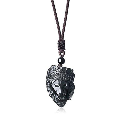 (coai Herren Kings Landing Kronen Löwe König Anhänger Halskette aus Obsidian)