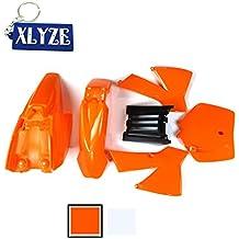 XLYZE Kit de Defensa de carenado de plástico Naranja para KTM50 KTM50SX MT50 MTK50 Mini Aventura