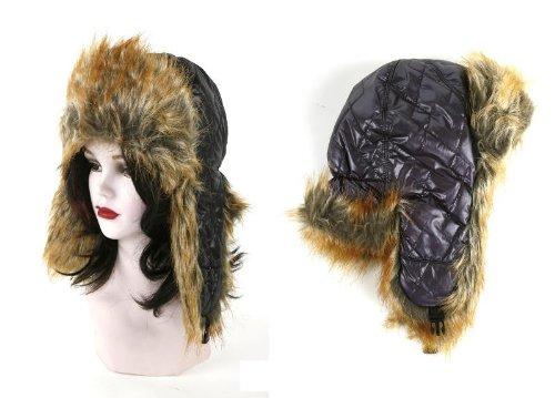 Mütze Eskimo mit Plüsch und Ohrenklappen, one size, lila