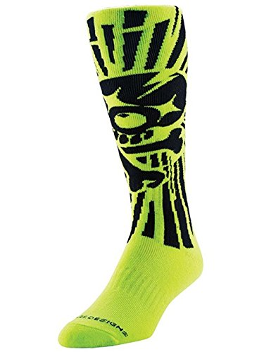 troy-lee-designs-kids-mx-socken-skully-gelb-gr-l-xl