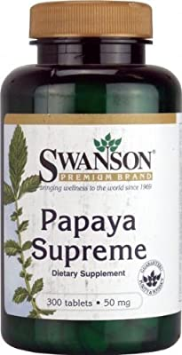 Swanson Papaya Supreme 50mg (300 Tablets) by Swanson Health Products