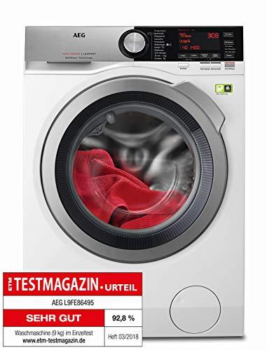 AEG L9FE86495 Frontlader Waschmaschine/Energieklasse A+++ (65 kWh/Jahr) / 9 kg/kein...