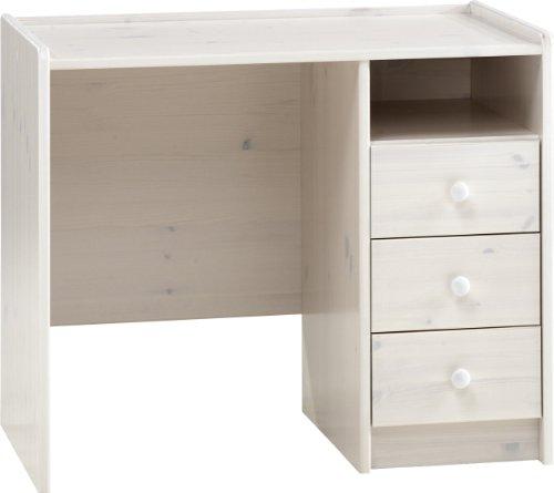 Steens For Kids Kinderschreibtisch, 3 Schubladen, 89 x 74 x 53 cm (B/H/T), Kiefer massiv, weiß