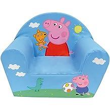 Fun House Peppa Pig - Sillón infantil de Peppa Pig (fabricado en Francia)