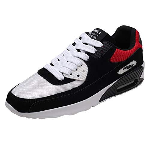 URIBAKY Chaussures de Course à Bout Rond pour Hommes Occasionnels en Maille, Plateforme Respirante et Baskets à Lacets