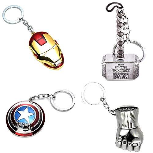 Inestimable Collection Avengers Schlüsselanhänger: Captain America || Hulk || Iron Man || Thor (Available Farbe Wird gesendet) - Captain America-fahrrad