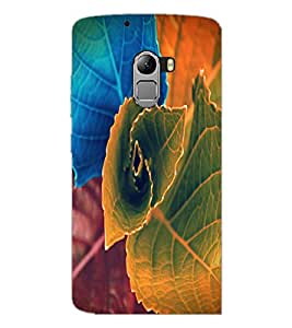 PrintDhaba Beautiful Leaf D-1155 Back Case Cover for LENOVO VIBE K4 NOTE (Multi-Coloured)