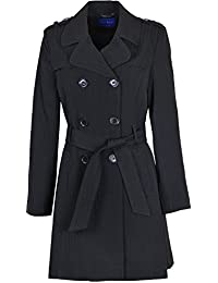 Kentex Online Womens Double Breasted Long Coat Fit and Flare Ladies Coat With Inside Lining