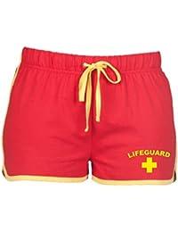 Direct 23 Ltd Lifeguard Ladies Shorts (Red/Yellow)