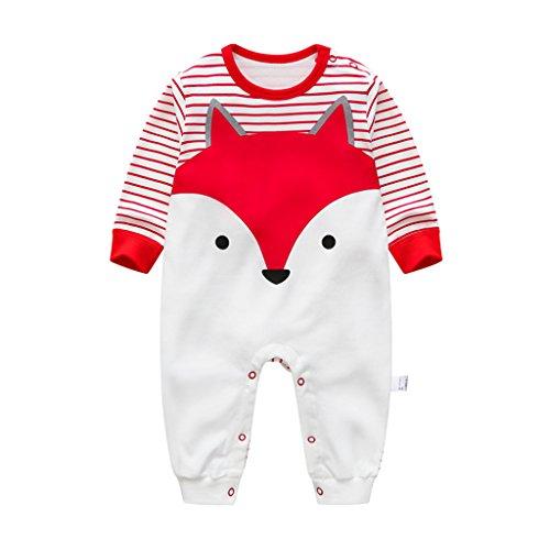 Neonato Bambino Pagliaccetto Body Neonato, Bambino Pigiama Tutina Maniche Lunghe Tuta Fumetto Outfits, 0-3 Mesi