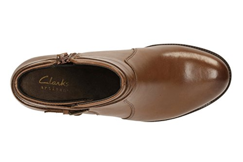 CLARKS Clarks Womens Ankle Boot Malvet Maria Dark Tan Dark Tan