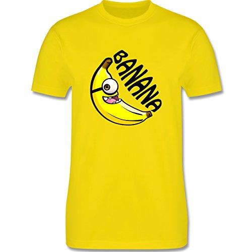 Comic Shirts - Banana gelb einäugig - Herren Premium T-Shirt Lemon Gelb