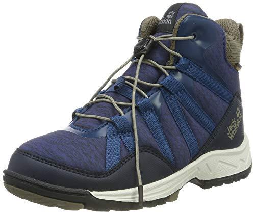 Jack Wolfskin Unisex-Kinder Thunderbolt Texapore MID K Wasserdicht Trekking-& Wanderstiefel, Blau (Blue/Phantom 1173), 35 EU