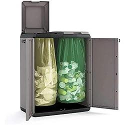 KETER | Poubelles de tri BASIC -EPACK, Gris, Cabinets, 68x39x85 cm